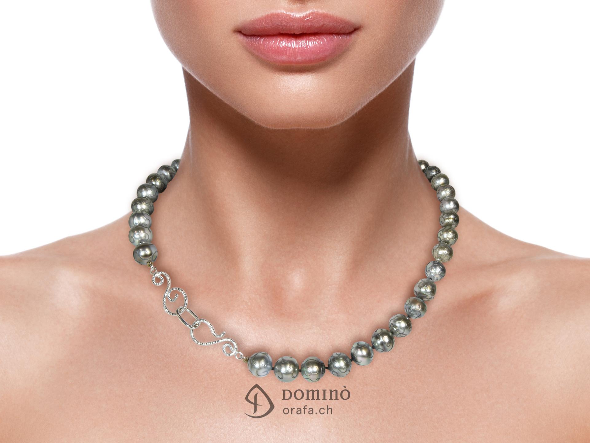 Collier di perle tahiti incise 1