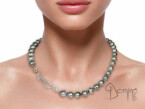 Engraved tahitian pearls collier