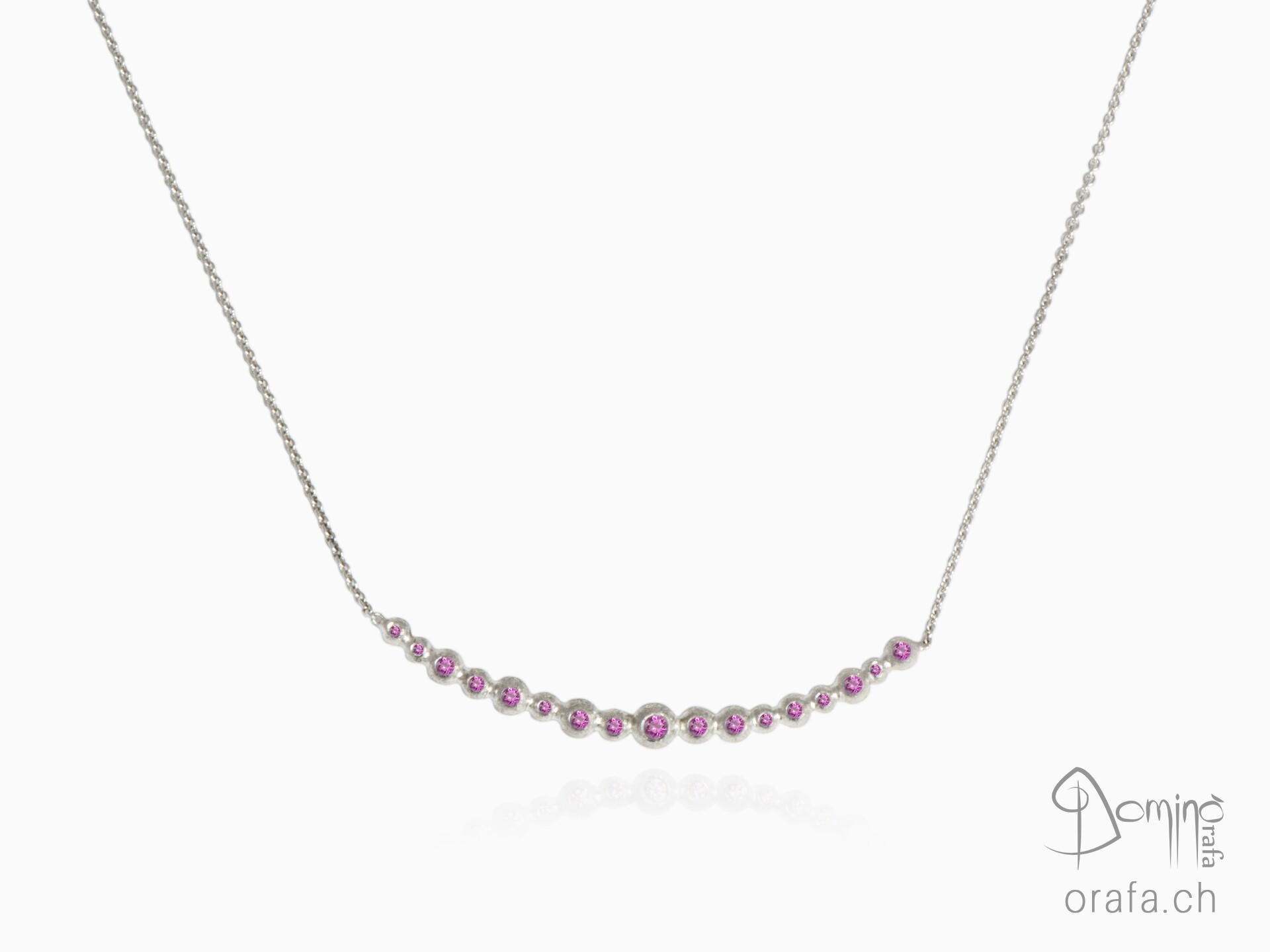 Pink sapphires Spheres collier