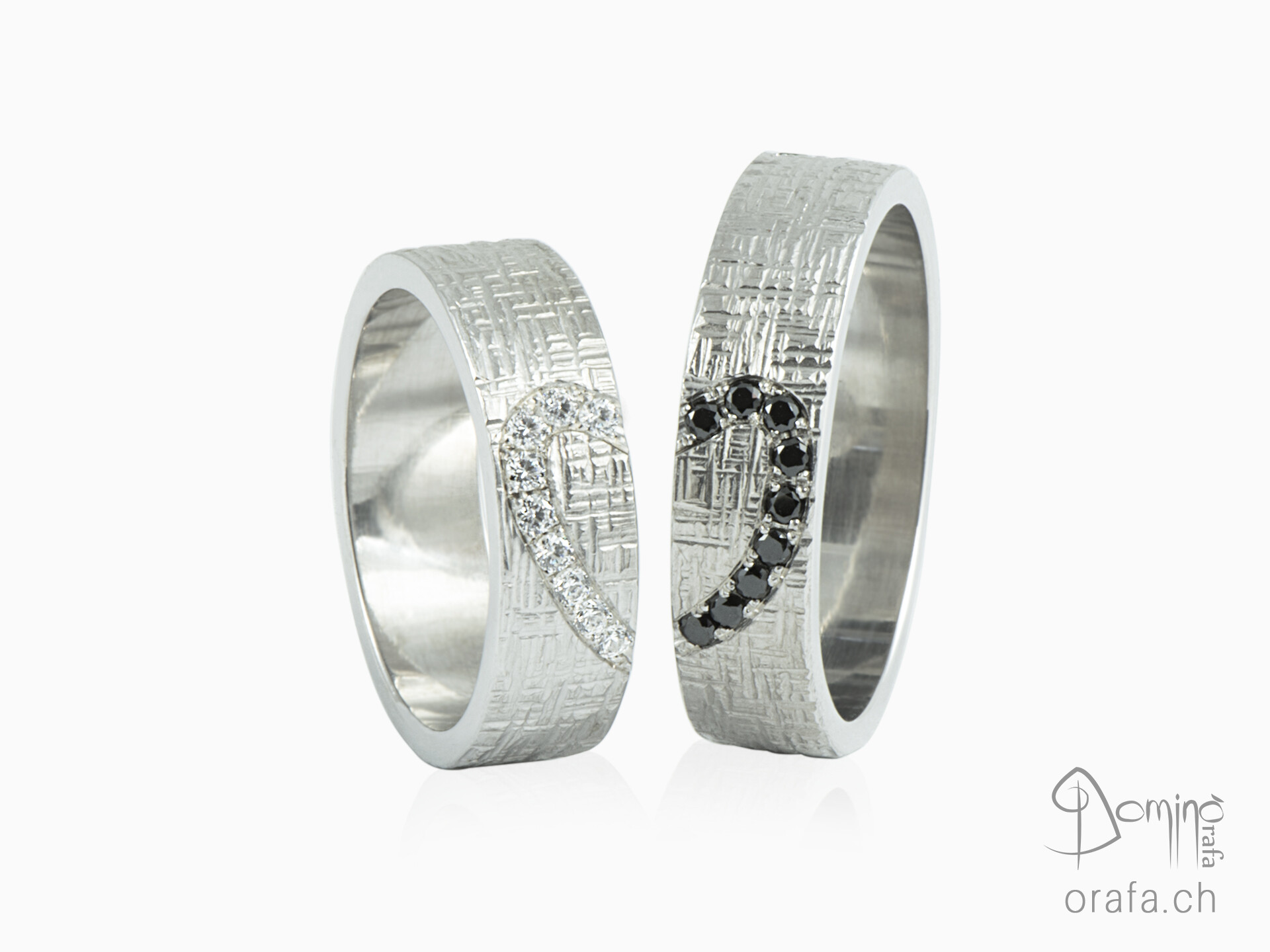 Crossed Wedding Bands.Sterling Silver