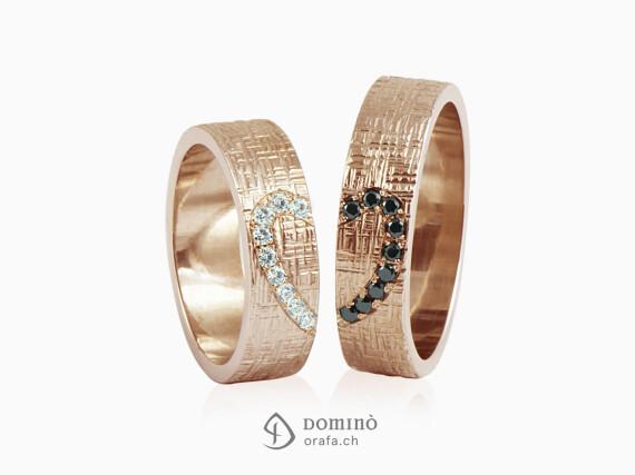 fedi-nuziali-linee-incrociate-contorno-cuore-diamanti-oro-rosso