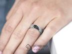 Crossed Lines diamonds Heart wedding rings