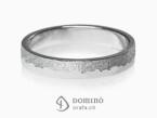 Sabbia/polished irregular rings White gold 18 kt