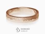 Sabbia/polished irregular rings Red gold 18 kt