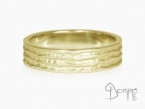 Irregular Solchi rings Yellow gold 18 kt