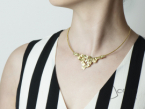 Rigid choker with Frammenti pendant