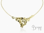 Rigid choker with Frammenti pendant Yellow gold 18 kt
