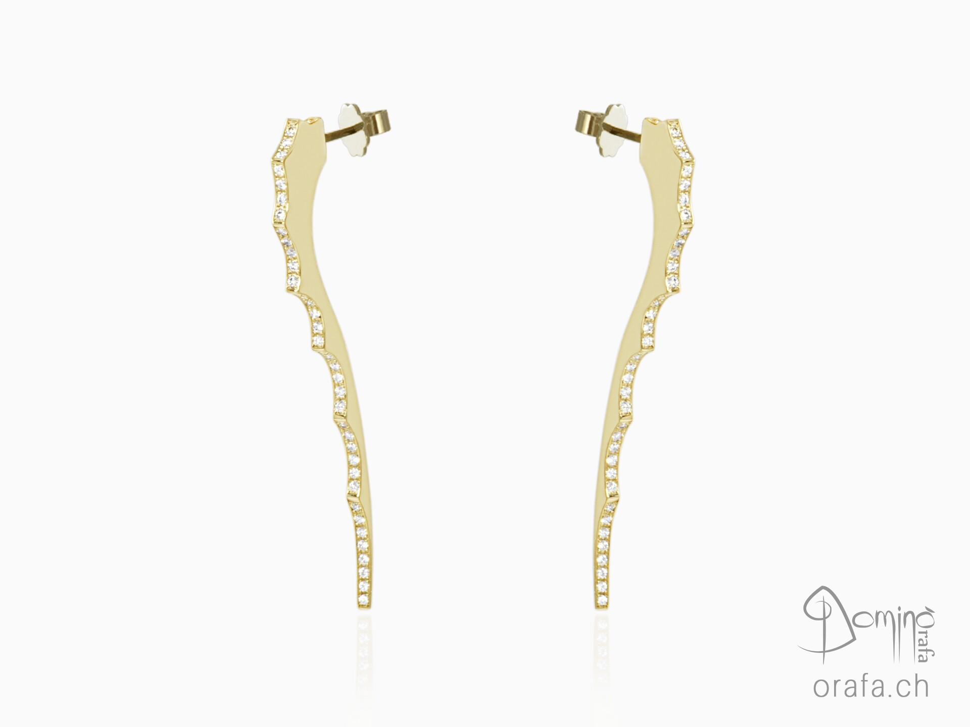 Diamonds Dragon's Tail earrings