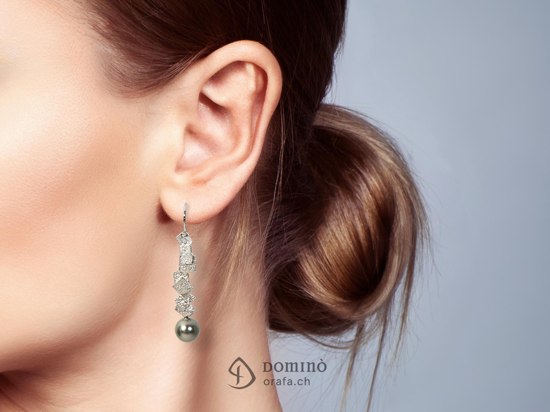 Orecchini Frammenti con perle tahiti 1