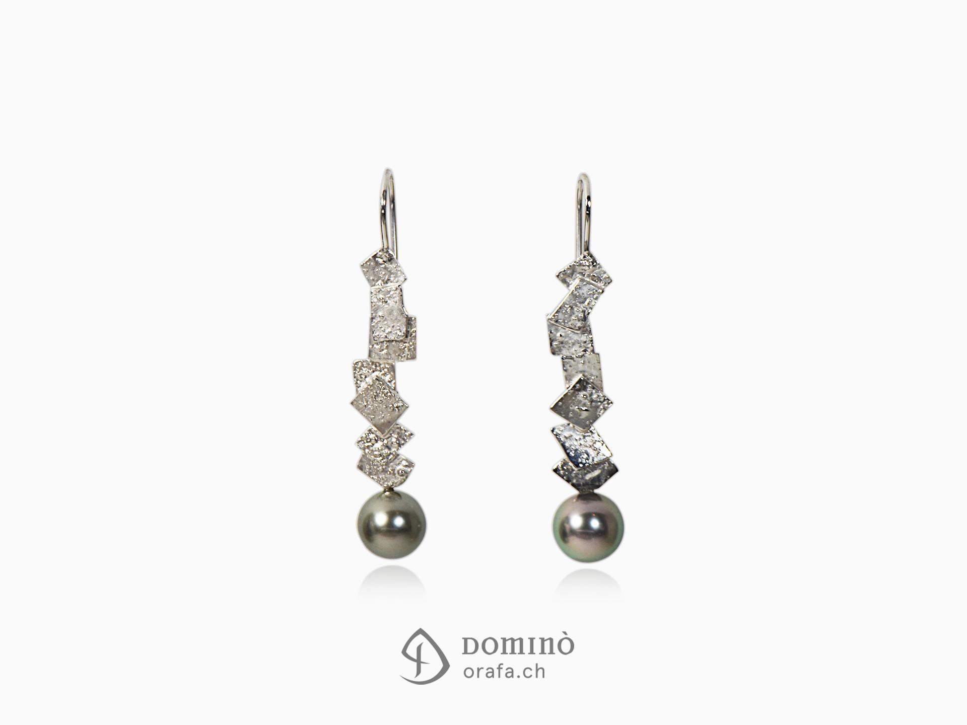 Orecchini Frammenti con perle tahiti