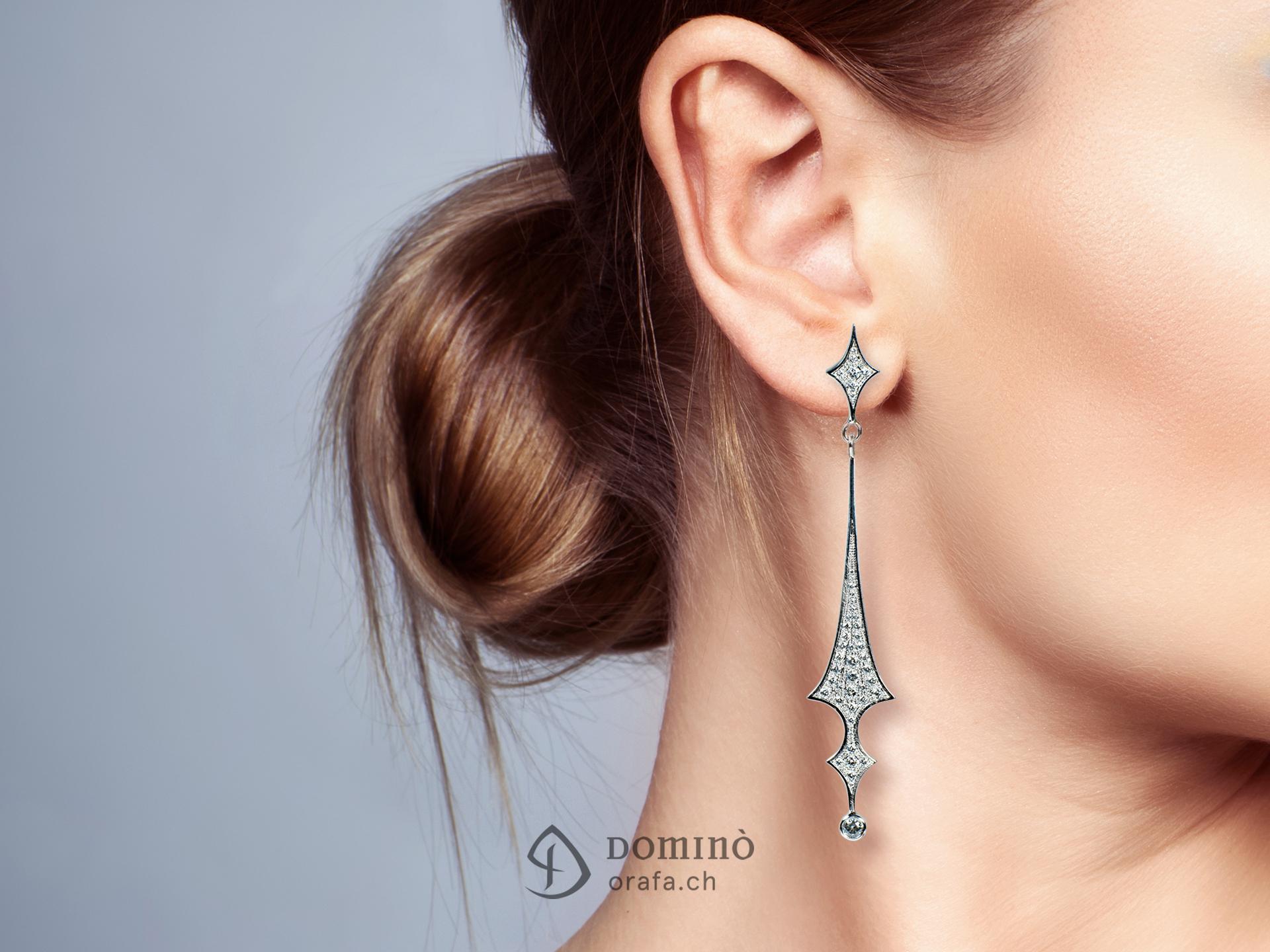 Orecchini con diamanti 1