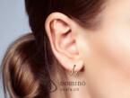 Spirale dangle earrings with diamonds