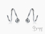 Spirale dangle earrings with diamonds White gold 18 kt