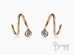 Spirale dangle earrings with diamonds Red gold 18 kt