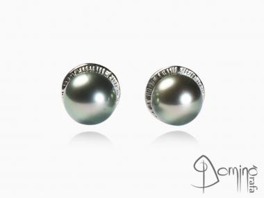 Orecchini con perle tahiti