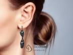 Black Piume earrings