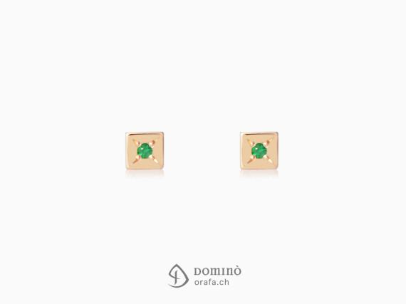 orecchini-quadrati-smeraldi0,02ct-oro-rosso