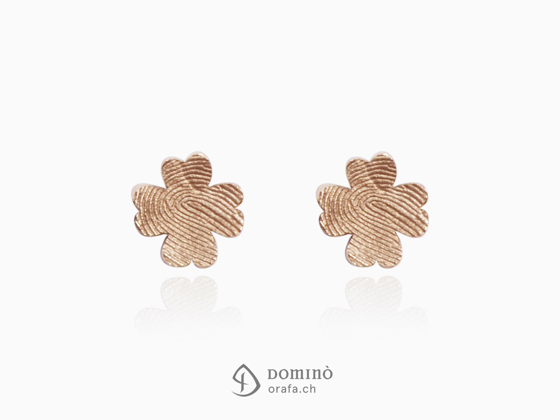 orecchini-quadrifoglio-impronta-digitale-oro-rosso