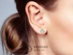 Four leaf clover earrings with fingerprints