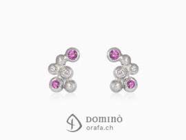 orecchini-sfere-piccoli-sabbiati-diamanti-zaffiri-rosa-oro-bianco