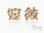 Square Spheres earrings Red gold 18 kt