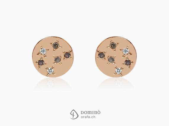 orecchini-stelle-12-diamanti-brown-cognac-incolore-oro-rosso