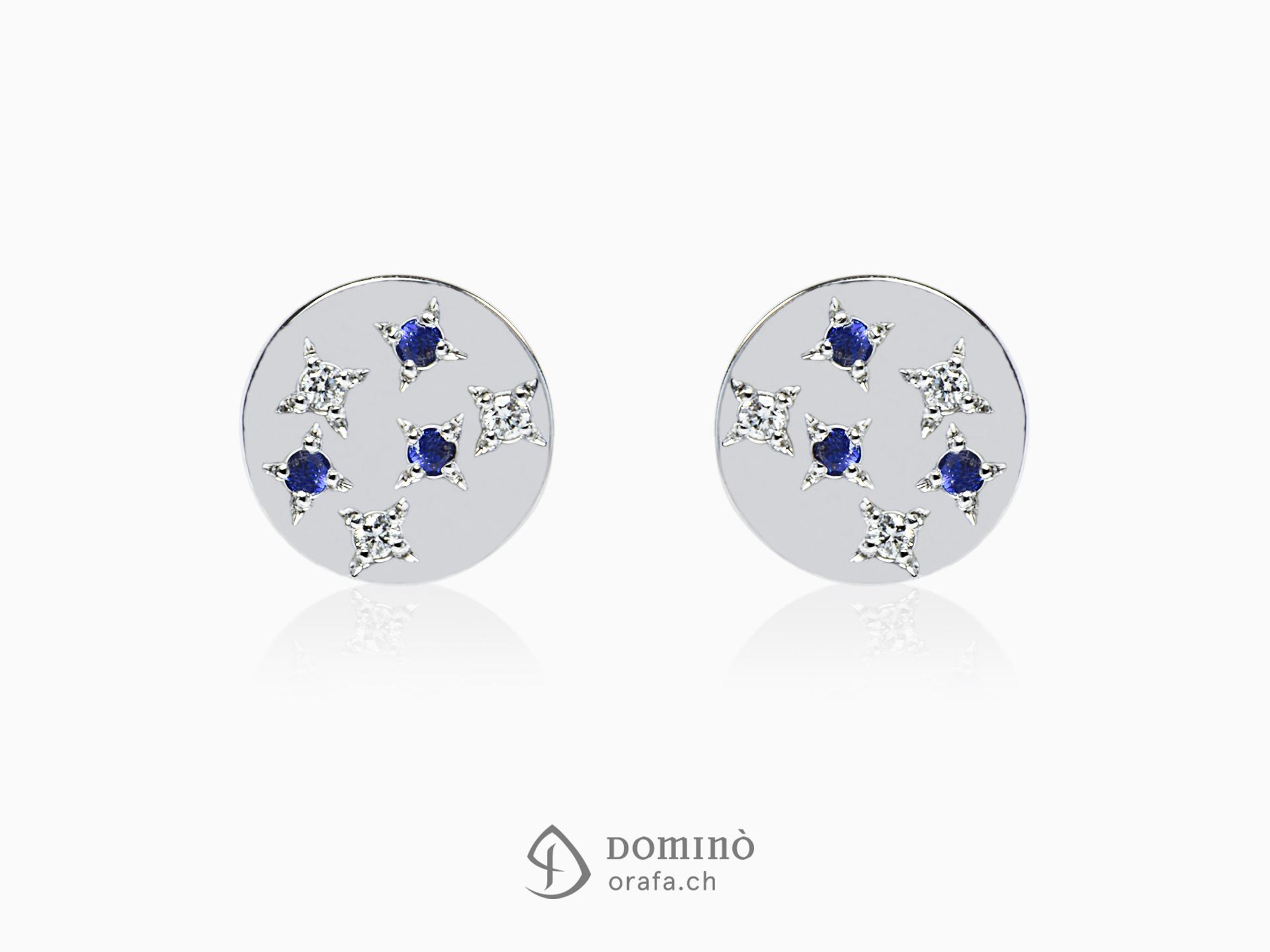 Orecchini stelle con diamanti e zaffiri