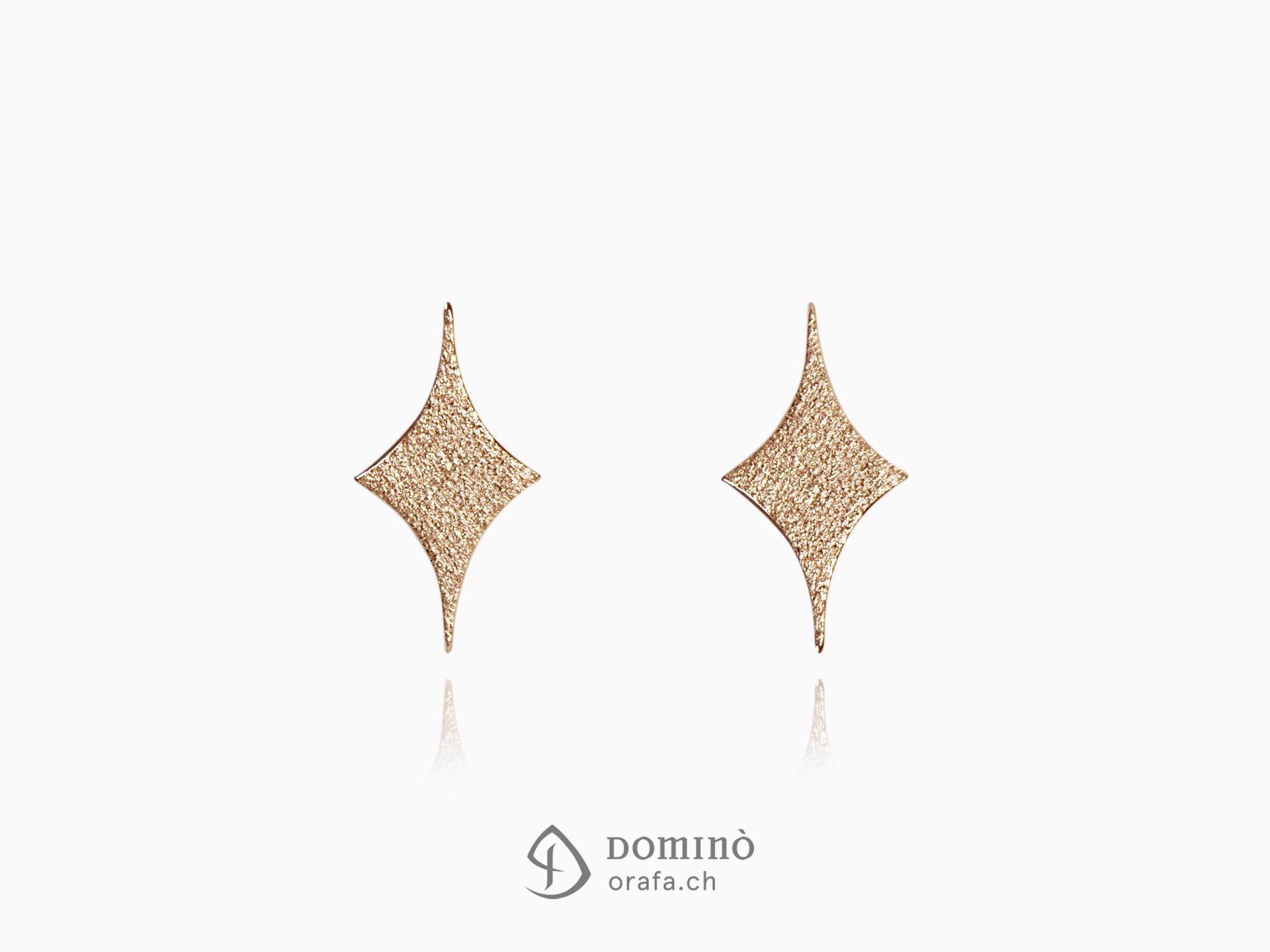 orecchini-stelle-semplici-sabbiate-oro-rosso